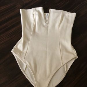 White strapless body suit never worn